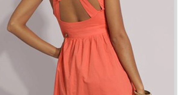 Open back dresses bow dress
