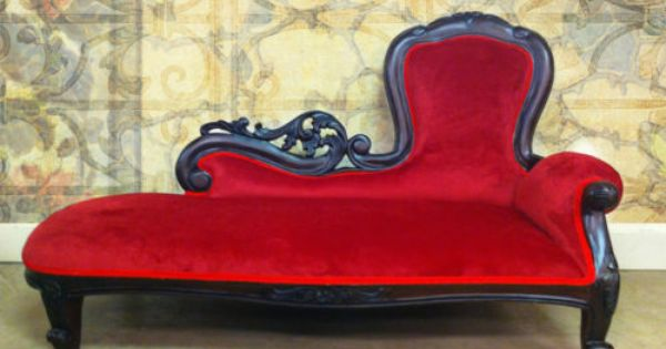 Child S Hi Back Chaise Lounge Mahogany W Red Fabric Photography Prop Ebay Chaise Lounge Chaise Lounge Sofa Toddler Lounge Chair