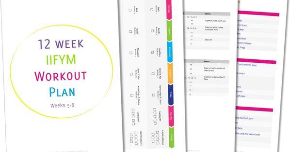 12 Week IIFYM/Reverse Diet Gym Workout Plan FREE | Inspire ...