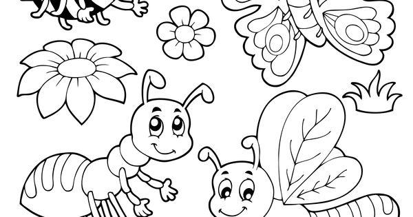 Coloriage Insecte à colorier - Dessin à imprimer | deco creche rentrez | Pinterest | Colorier ...