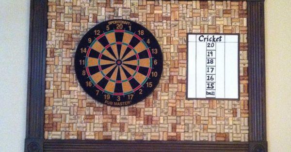 Wine Cork Dart Board Man Cave Basement Ideas Pinterest Dart Board Darts And Wine Corks
