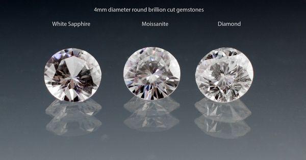 White Sapphire Vs Moissanite Vs Diamond White Sapphire