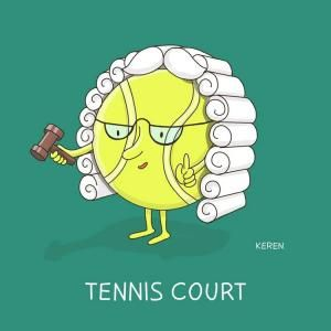 Funny Pun Sports Joke Tennis Court Punny Puns Cute Puns Funny Puns