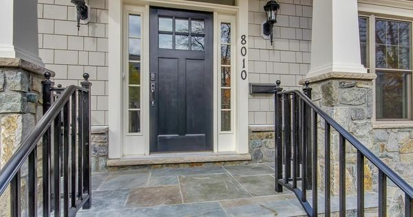 Traditional Front Door With Gaf Weatherside Emphasis