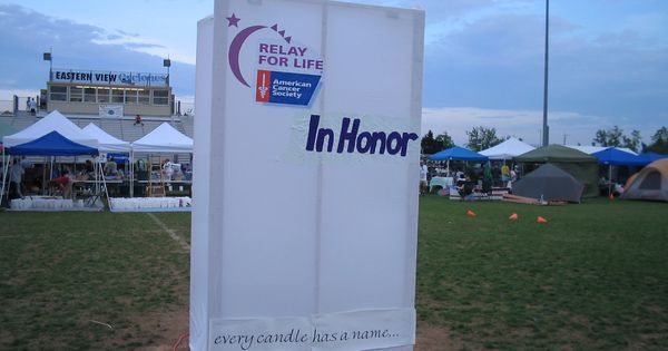 Big Luminee Bag (In Honor) at the Culpeper Relay for LIfe ...