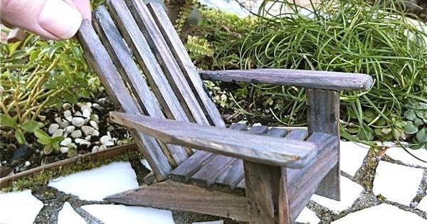 Miniature Adirondack Chair Old Cape Cod Beach Chair For