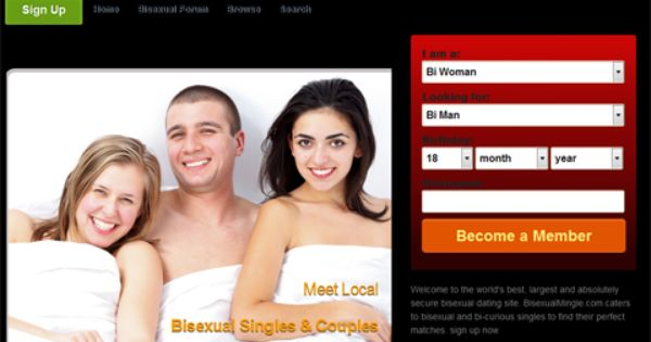 adult dating sites for young single bisexual Connect like never before the concept is easy, simply navigate and swipe between profiles around your area, decide whom you like, and a match will be created if that same person likes you back you and your match won't be able to see each other's profile or know who you are talking to except that you've both liked each.
