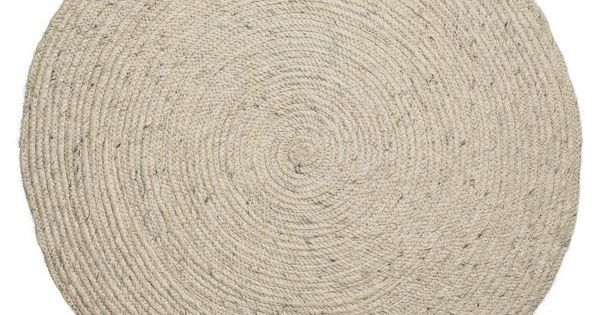 tapis rond beige en laine tress e bloomingville 80 cm tapis pinterest design. Black Bedroom Furniture Sets. Home Design Ideas