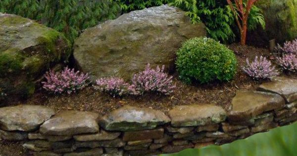 Flowerbeds Natural Stone Space With Raised Flower