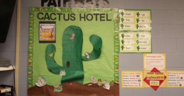 Classroom Decoration Cactus ~ Pathways bulletin board cactus hotel literacy