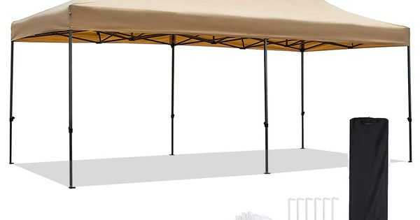 Amazon Com Snail 10 X 20 Outdoor Easy Pop Up Canopy Tent With Waterproof 420d Top Portable Event Party Sha Portable Shelter Pop Up Canopy Tent Canopy Tent