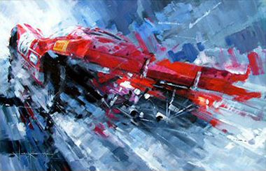 John Ketchell Paints Semi Abstract Racing Fury Art Cars Car Painting Automotive Illustration