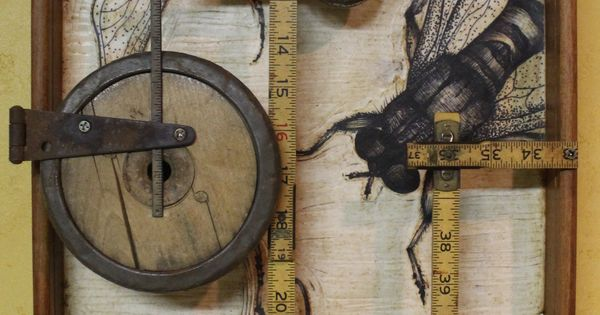 """""""Home Builders Association"""" by Kathy Moore, a Bee assemblage from her Junk"""