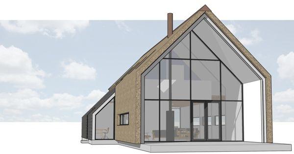 Ruwbouw afbouw woning met rieten kap en rieten gevel in het buitengebied van heerde dingemans - Model van huisarchitectuur ...