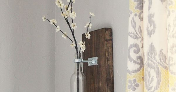 DIY Wine Bottle Wall Vase