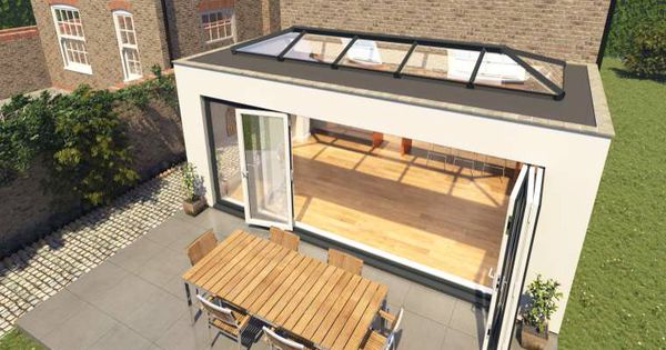 Flat Roof Extension With Skylight Amp Bifolding Doors