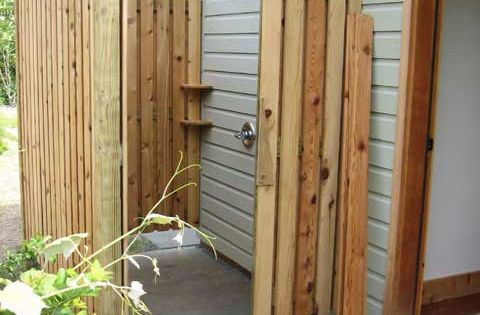 DIY Outdoor Shower Idea