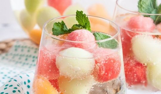 Brighten Up Summer Drinks with Melon Ball Ice Cubes — Tips from