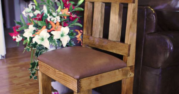 Make a 2x4 dining chair diy wood projects pinterest for Dining room table 2x4