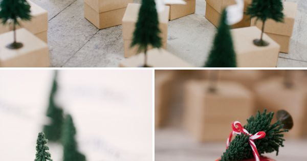 christmas tree advent calendar idea