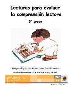 Lecturas Para Evaluar La Comprensión Lectora En 5to Grado Comprensión Lectora Lectura Comprensiva Lectura De Comprensión
