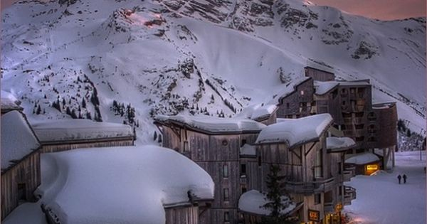 Alpine Glow Sunset, Trois Vallées, The French Alps travel bucketlist visionboard nature