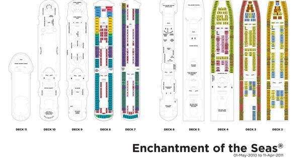 Deck plan 2 | cruise/Enchantment of the sea | Pinterest ...
