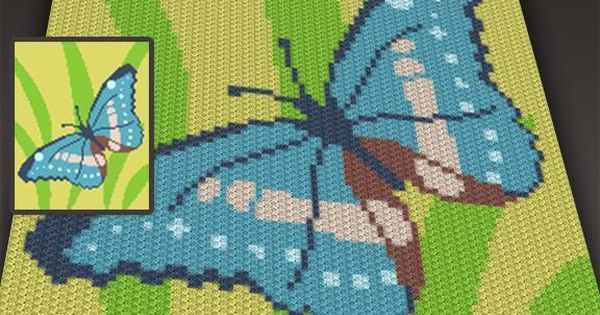4 Name Crocheting Butterfly C2c Graph Two Magic