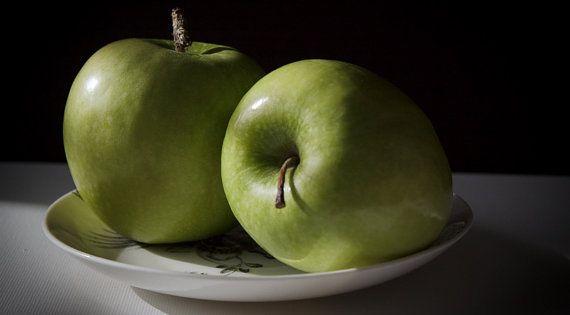 Green APPLE, FOOD, STILL Life Photography, Fruit, Diningroom Art ...