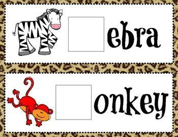 Zoo Animals Beginning Sound Game Cards Preschool Zoo Theme Zoo Activities Zoo Preschool