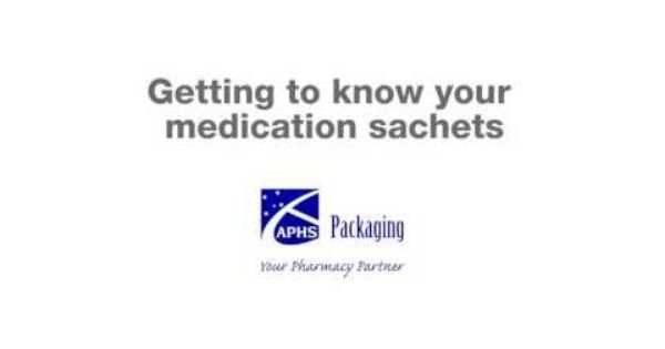 Getting To Know Your Medication Sachets Youtube Getting To Know You Getting To Know Medical