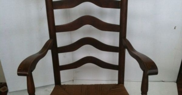 Antique (1800s) Rush Seat Ladderback Rocking Chair See 11 Pics For ...