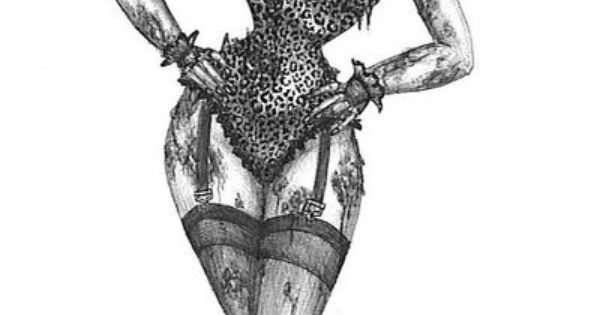 Zombie Pinup Tattoo Sketch
