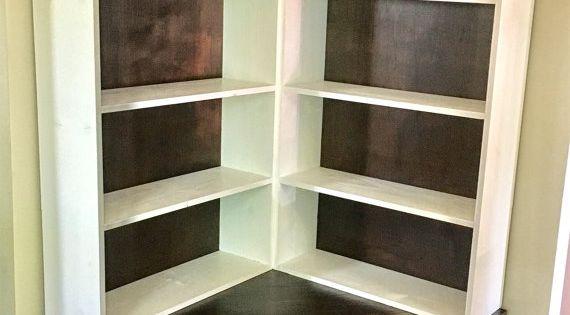 Shabby Chic Corner Bookcase With Seat Shabby Corner