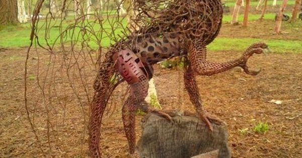 Dragons...awesome garden art...