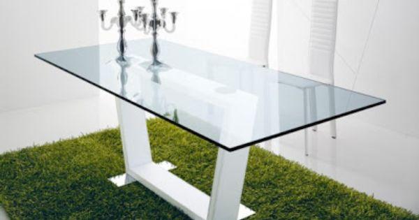 mesas de comedor de vidrio con bases muy originales decorando mejor