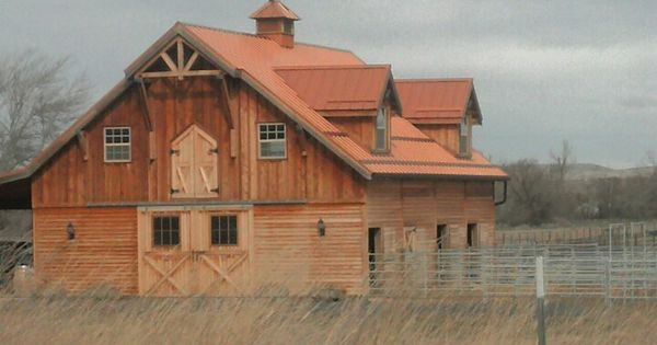 Wood Barn With Copper Roof And 4x4 Roof Eve Accents Home