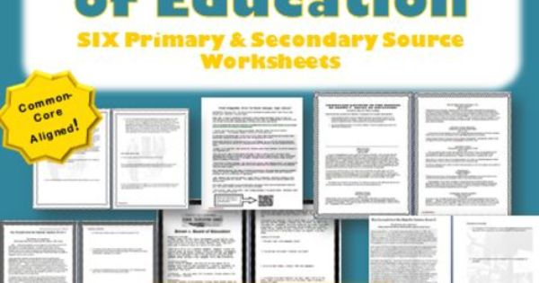 civil rights movement brown v board of education primary and secondary source worksheets. Black Bedroom Furniture Sets. Home Design Ideas
