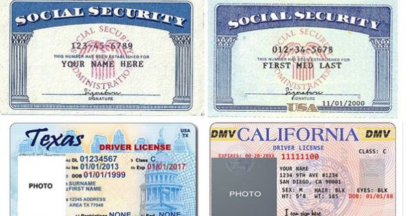 Font Used On Texas Drivers License Birth Certificate Template