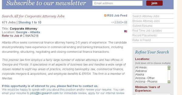 Corporate Attorney Jobs Listings Search Attorney Jobs Pinterest - corporate attorney resume