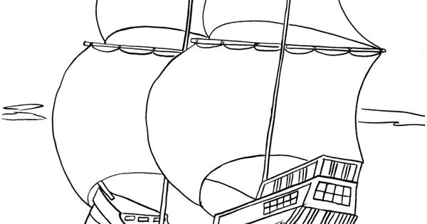 mayflower compact coloring pages - photo#28
