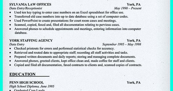 resume including for the data entry specialist resume must be we