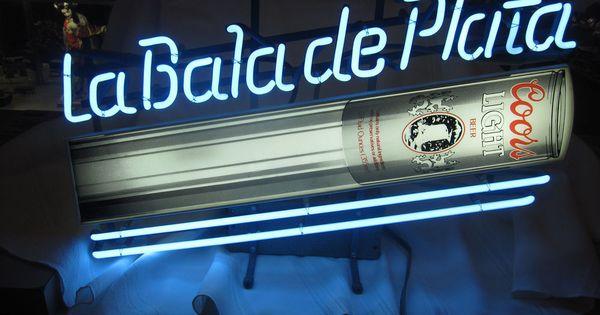 Rare Spanish 1986 Coors Light Beer Neon Sign La Bala De