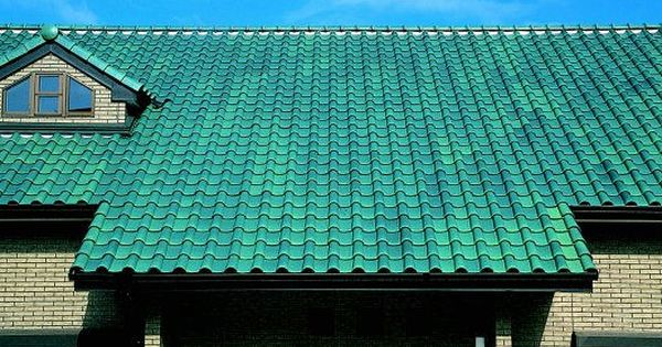 Colored Roof Tiles Of Spanish Design Ceram21 Blue Green