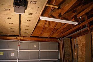 How To Install Kraft Faced Fiberglass Insulation In A Garage Ceiling With Roof Trusses Garage Ceiling Insulation Diy Insulation Garage Decor