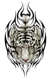 White Tiger Tattoo White Tiger Tattoo Tribal Tiger Tattoo Tiger Head Tattoo