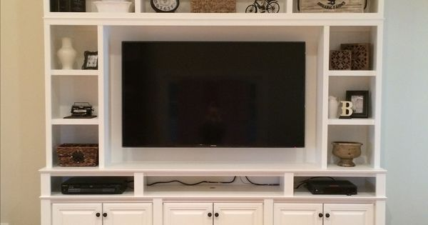Downright Simple This Is My Diy Built In Wall Unit Made
