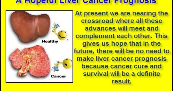 The Liver Cancer Prognosis rate is rather low, because the ...