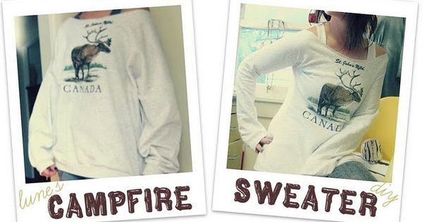 DIY sweatshirt refitting
