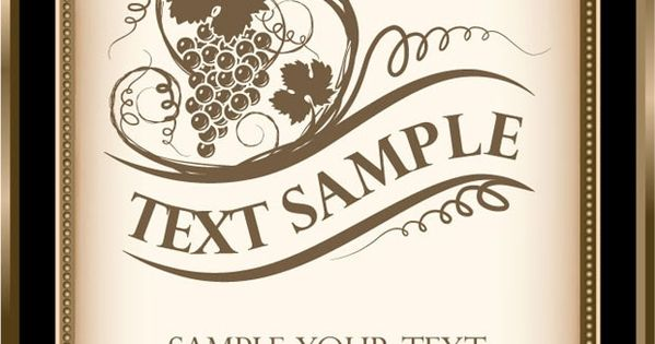 wine bottle label template free download - Google Search ...